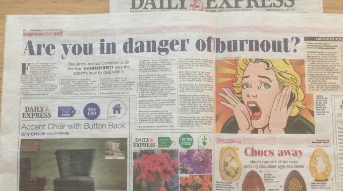 Daily Express – My Top Tips To Prevent Burnout